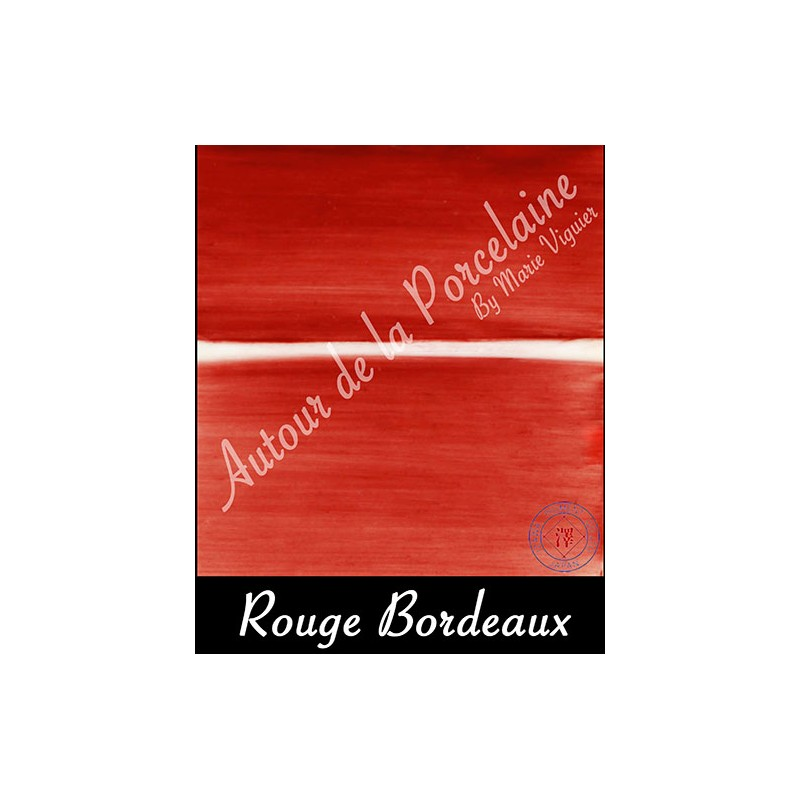 rouge bordeau pigment japonais couleurs japonaise pour porcelaine. Black Bedroom Furniture Sets. Home Design Ideas
